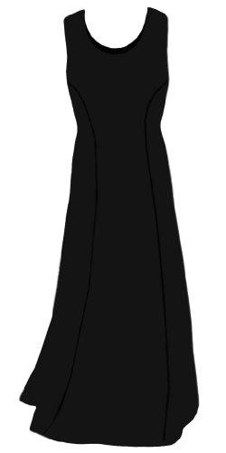 Sanctuarie Designs Women'S /6X /Womens Black Cotton Princess Cut Plus Size Supersize Tank Maxi Dress/6X /./