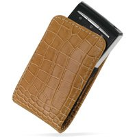 PDair Leather Case for Sony Ericsson Xperia X10 mini - Vertical Pouch Type with Belt Clips (Brown/Crocodile Pattern) (Xperia X10 Mini Case compare prices)