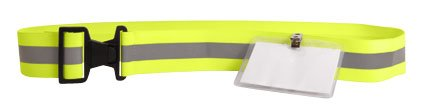 Reflex Reflex Belt w/ ID Holder (Neon Yellow)