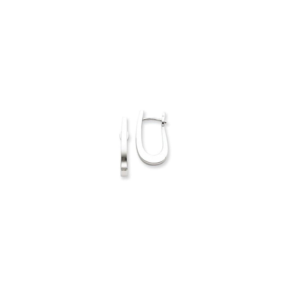 14k White Gold Hoop Earrings West Coast Jewelry Jewelry