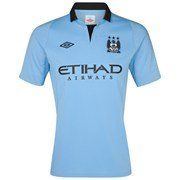 Manchester City 2012/13 Home Replica Football Shirt - size 46