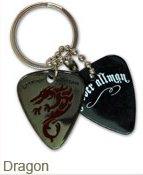 Grover Allman Pick Pendant Keyrings Style 3 - Dragon