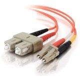 20m LC-SC 62.5/125 OM1 Duplex Multimode Fiber Optic Cable - Plenum CMP-Rated - Orange