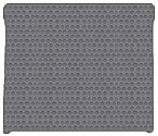 Ford Expedition Custom-Fit All-Weather Rubber Floor Mats Cargo Area - EL (Extended Length) - Fits On Top Of 3rd Seat Folded Down|Use With Mat For Behind 3rd Seat For Full Coverage -Gray (2007 07 2008 08 2009 09 2010 10 2011 11 )