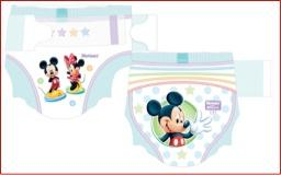 Huggies Little Movers diapers offer your baby a fun diaper with designs from Mickey and Minnie