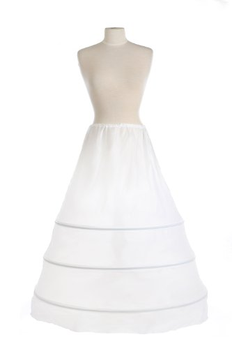 New 3 Hoop Bridal Drawstring Petticoat Crinoline Wedding Gown Slip