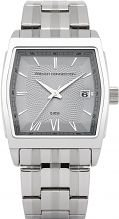 French Connection Men's Quartz Watch with Silver Dial Analogue Display and Silver Stainless Steel Bracelet FC1122S