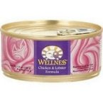 Wellness Pet Products Chicken & Lobster Cat Food, Can 3 oz. (Pack of 24)