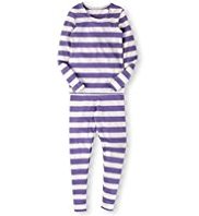 Striped Thermal Vest & Leggings Set