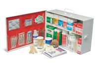Radnor 64058006 Two-Shelf 10 Person Durable Metal Mobile Utility First Aid Kit by Honeywell
