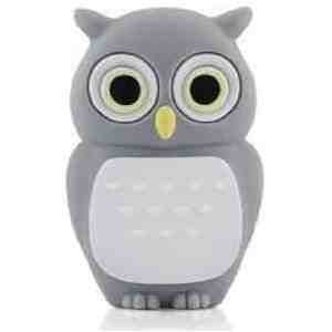 8GB Baby Owl DARK GREY USB 2.0 High Speed Silicon Flash Memory Drive Disk Stick Pen Support Windows and MacOS Great Gift from EASYWORLD