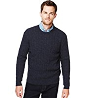 Blue Harbour Extrafine Pure Lambswool Twisted Cable Knit Jumper