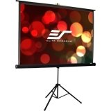 Elite Screens Tripod Pro Series, Portable Pull-up Projection Screen, 99-inch Diagonal 1:1, Model: T99UWS1-Pro