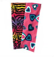 Set of 2 Book Covers - Heart and Rainbow Zebra