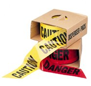 Red Danger Barricade Tape. 3