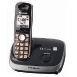 CE - Panasonic KX-TG6511B DECT 6.0 PLUS Expandable Digital Cordless Phone, Black, 1 Handset