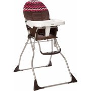 Cosco Flat Fold High Chair, Chevron Raspberry back-1031384