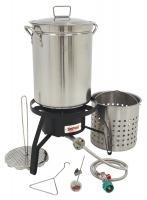 Bayou Classic Propane Turkey Fryer Kit - Burner and 32qt Stainless Steel Pot (Propane Fryer Burner compare prices)