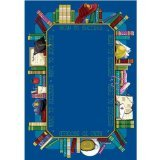 "Joy Carpets Kid Essentials Language & Literacy Read to Succeed Rug, Multicolored, 3'10"" x 5'4"""