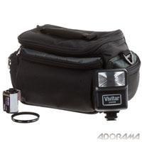 Vivitar SLR Accessory Kit for V3800N 35mm SLR Camera/Lens, with Electronic Flash, System Gadget Bag, Lens Filter and Film
