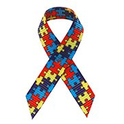 Best Price Autism Satin Awareness Ribbons - Bag of 250 Fabric Ribbons w/ Safety Pins (Puzzle Piece)