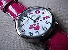 """Juicy Couture ladies watch """"Love"""" hot pink leather strap 1900588"""