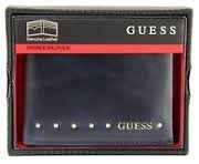 Guess Men's Genuine Leather Double Billfold