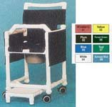 """Innovative Medical Commode Shower Chair 20"""" Open Front Lapbar Ftrst Dlx Gray Seat Wine Back"""