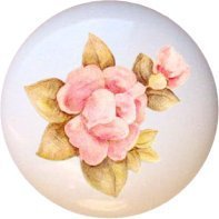 Ceramic Knob - Pfaltzgraff Tea Rose