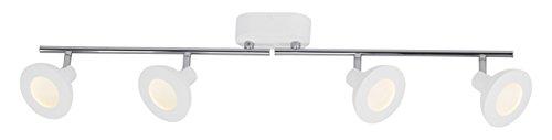 AEG aega191085a + +, Titania LED faretti a tubo, luce indiretta, teste e tubi rotante in alluminio, 4x 500lumen, 5W,, integrato, colore: bianco/cromato, 10,5x 81,5x 17,7cm
