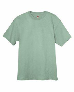 Hanes 6 oz. Tagless T-Shirt, Stonewash Green
