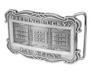 Feeling Lucky Vegas Style Triple Bar Slot Machine Belt Buckle