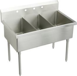 Elkay SS8372OF3 Sturdibilt Kitchen Sink Lustrous Satin Stainless Steel Floor 3 OF