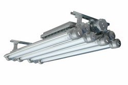 Explosion Proof Fluorescent Lights For Paint Booths - 4 Foot - 4 Lamp(-T8 Prog-Surface)