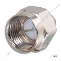 Terminator, 75 OHM, F Port Screw-on, 5-2050Mhz, 5 pack