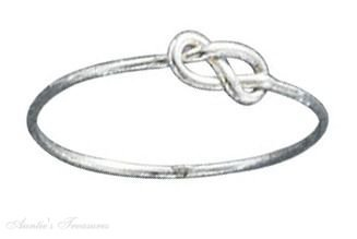 Sterling Silver Infinity Symbol Knot Ring Size 12