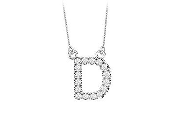 Petite Baby Charm Cubic Zirconia D Initial Pendant .925 Sterling Silver - 0.25 CT TGW MADE IN USA