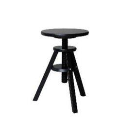 Svenerik Ikea Black Stool Piano Solid Wood Music Stool