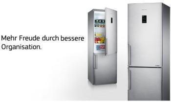 Kühlschrank Gefrierschrank Kombination : Samsung rb her csa kühl gefrier kombination a kühlen