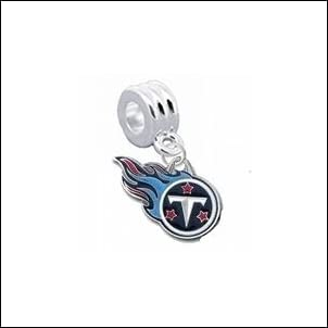 Tennessee Titans Charm with Connector Classic & Original Style - Fits: Pandora Troll Biagi & More! Perfect For Custom Bracelets Necklaces and DIY Jewelry