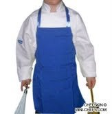 Chefskin CHILDREN KIDS CHEF SET (1 ADJUSTABLE WHITE HAT + 1 BLUE APRON) SMALL fits Kids 2-8 EXCELLENT FOR SCHOOL PLAYS, HALLOWEEN, CHRISTMAS, HELP MOM, COOKING OR BAKING PARTIES AND MORE
