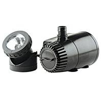 LOW WATER AUTO SHUT-OFF FOUNTAIN PUMP W/ LED LIGHT, Size: 300-420 GPH (Catalog Category: Pond:FILTERS, PUMPS & ACCESSORIES)