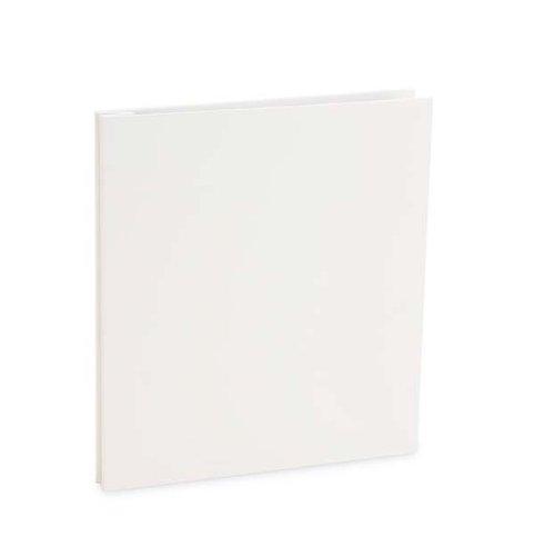 Pina Zangaro Bex 8.5 x 11 inch Presentation Book, Screwpost Portfolio Cover, Portrait, White