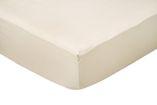 AmazonBasics - Lenzuolo con angoli king, in rasatello di cotone 400 fili, Beige 200 x 200 x 30 cm