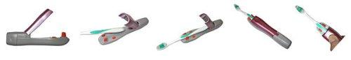 Imagen de iTouchless Shake-A-Brush Cepillo de dientes adaptador de alimentación (2 juegos)