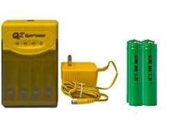 Quest Q2 Smart Charger 4 AAA 1200 mAh NiMH Batteries replaces 1.5 volt alkaline battery