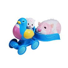 Zhu Zhu Babies - Push-Along Bluebird Buggy