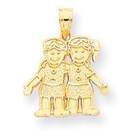 14k Yellow Gold Boy / Girl Pendant