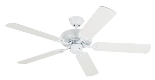 Westinghouse 7802400 Contractor's Choice 52-Inch Five-Blade Indoor Ceiling Fan, White with White Blades (Ceiling Fan Without Blades compare prices)