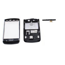 Full housing kit replacement for Blackberry Storm 9500 9530 Black including Faceplate cover, batter back door cover, keyboard(Without the Speaker Device)